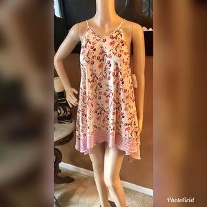 Max Studio Women's Floral Hi Low Tunic Dress